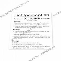 Feuille d'occlusion 1,0 (transparent) - 1 pièce