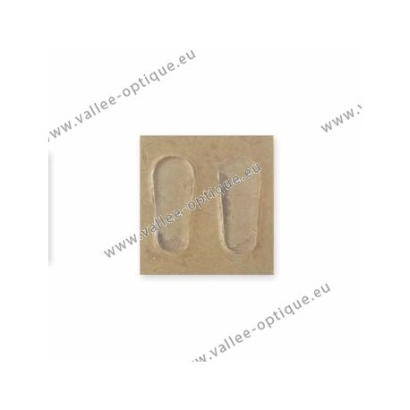 Stick-on nose pads 19 mm in silicone