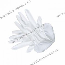 White microfiber gloves - 28 cm