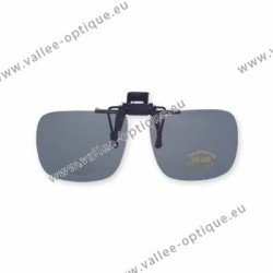 Polarized spring flip up glasses - plastic mechanism - medium size - grey
