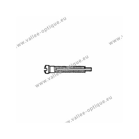 Screw with locking system by nylon thread 1.5 x 1.9 x 11 - white