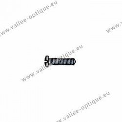 Cross head screw with plastic coating 1.4 x 2.5 x 5 - white