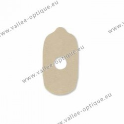 Lens edging pads for soft blocks - 17x30 mm