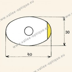 Films for coated lenses - oval large size