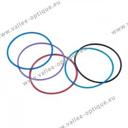 Rings for rimless and pierced mountings - turquoise