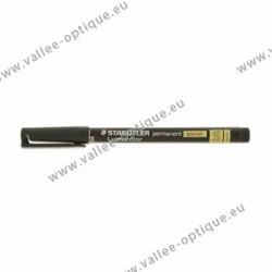 Crayon feutre permanent Lumocolor noir super fin