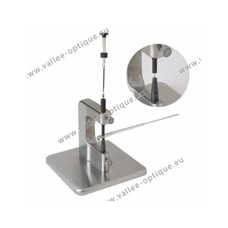 Device for the complete mounting of flex temples
