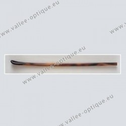 Long temple tips - symmetrical end - tortoiseshell colour - drilling Ø 1.45 mm
