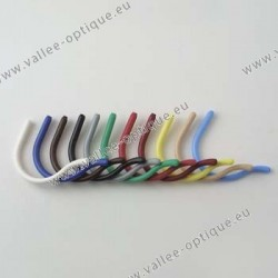 Best curl temple tips - piercing 1.35 mm - small size - green