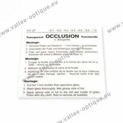 Feuille d'occlusion inf. à 0,1 - 1 pièce