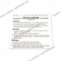 Feuille d'occlusion 0,1 - 1 pièce