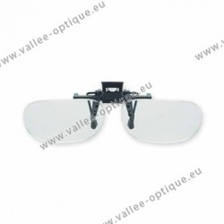 Spring flip up glasses - half frame model - AC lenses + 3.0