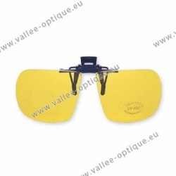 Polarized flip up glasses - plastic mechanism - yellow