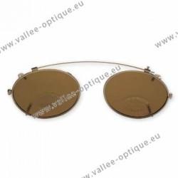Clip ovale - 46 x 36,5 - non polarisé - cerclage doré