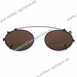 Clip ovale - 44 x 34,0 - polarisé - cerclage noir