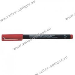 Crayon feutre permanent Lumocolor rouge fin