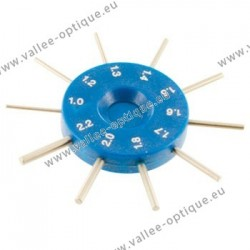 Gauge for measuring the drilling diameters