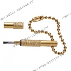 Pocket screwdriver - gold plated