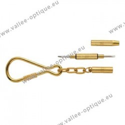 Pocket screwdriver - gold plated - 3 functions