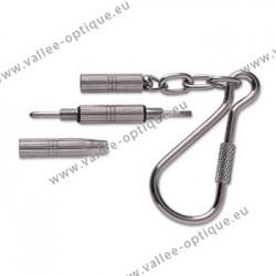 Pocket screwdriver - nickel plated - 3 functions