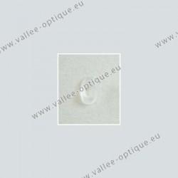 Plaquettes monobloc ovales - silicone - 10,5 mm - 10 paires