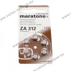 Piles n° 312 pour appareils auditifs