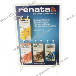 Display for hearing aid batteries