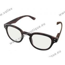 Magnifying glasses, protection against blue light, dark tortoise, +2.0