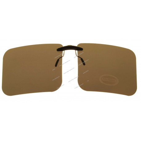 Sun clips with mini mechanism - Brown - Big size