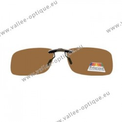 Sun clips with mini mechanism - brown- Medium