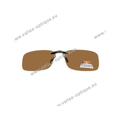 Sun clips with mini mechanism - brown- Medium