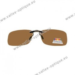 Sun clips with mini mechanism - Brown - Medium