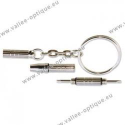 Pocket screwdriver, nickel plated