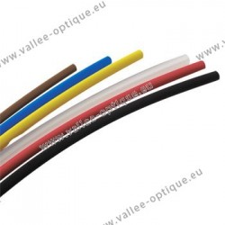 PVC heat shrink tubes - Ø 2.4 mm - black