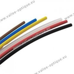 Gaines rétractables en PVC - Ø 2,4 mm - noir