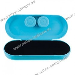Frame case with contact lens case