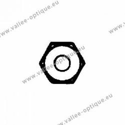Ecrous maillechort longs 1.2x2.5x3.0 - blanc
