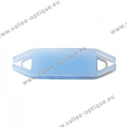 Flexible label supports for frames, blue