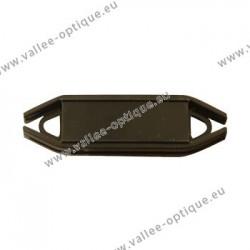 Supports étiquettes flexibles pour montures, noir