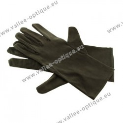 Black microfiber gloves, 26 cm