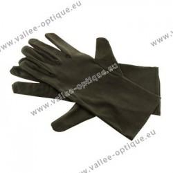 Black microfiber gloves, 28 cm