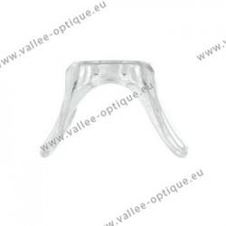 Acetate screw-on and push-on saddle bridge, 18 x 18 x 25