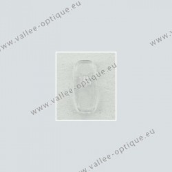 Acetate B + L type nose pads, transparent, 13 mm