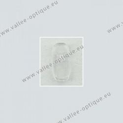 Plaquettes type B + L, acétate, transparentes, 13 mm