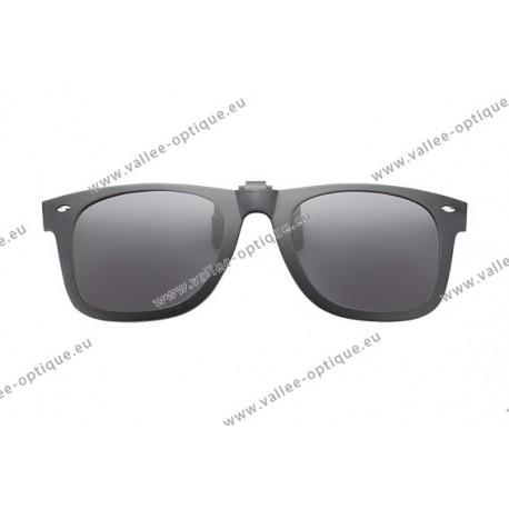 Polarized spring flip up glasses with plastic frame,grey lenses