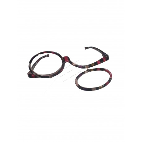 Make-up glasses with tilting lenses, +1.5
