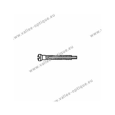 Screw with locking system by nylon thread 1.2 x 1.9 x 11 - white