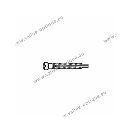 Screw with locking system by nylon thread 1.3 x 1.9 x 11 - white