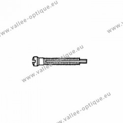 Screw with locking system by nylon thread 1.4 x 1.9 x 11 - white