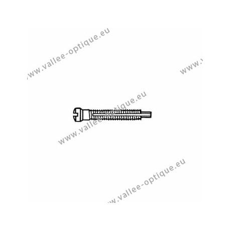 Screw with locking system by nylon thread 1.4 x 1.9 x 11 - white